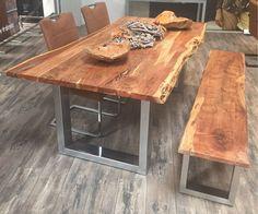 Esstisch Escoba aus Akazie Massivholz mit Baumkante | Interiors ...