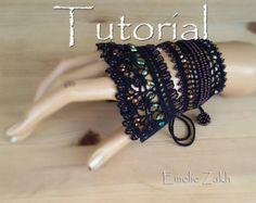 Pattern crochet beaded bracelet .Exclusive by Emeliebeads on Etsy