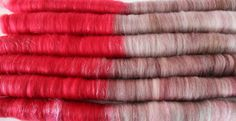 Rolags 'Vintage Kisses' for spinning  4.1 by HookeraholicCrochet, $28.70
