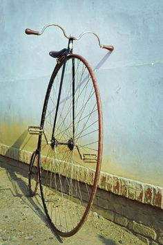 size: Photographic Print: Penny Farthing ,High Wheel,Bicycle,Retro,Vertical by unclepepin : Bicycle Sidecar, Old Bicycle, Bicycle Wheel, Bicycle Helmet, Cycling Quotes, Cycling Art, Cycling Jerseys, Cycling Tips, Road Cycling