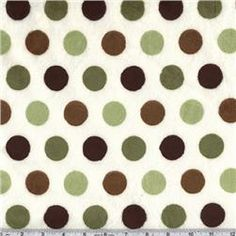 Minky Cuddle Jumbo Dot Mocha/Olive