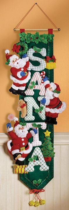 Bucilla Santa Wall Hanging Kit