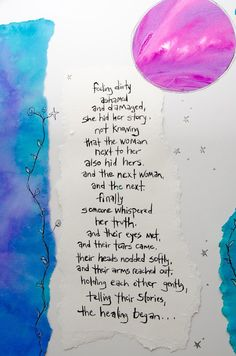 Turning Point Women's Shelter Art with a poem by Terri St. Cloud