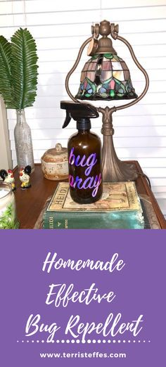An effective bug repellent perfect for camping, or just your own backyard. #homemadebugspray #DIYbugspray