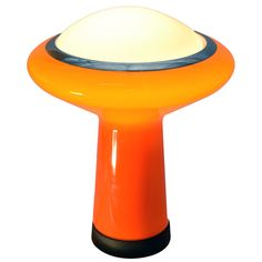 Mazzega Italian glass mushroom form table lamp  Italy  c. 1960s