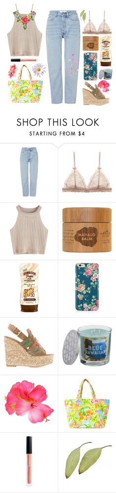 """A L O H A"" by aby-ocampo ❤ liked on Polyvore featuring Won Hundred, Hawaiian Tropic, Caso, Ash, SONOMA Goods for Life, Betsey Johnson, Lilly Pulitzer, Huda Beauty, Lizzie Fortunato and Summer"