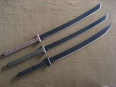 Current MBB Knife and Sword models. All are handmade from start to finish and can be customized.