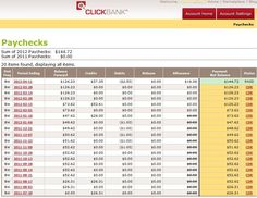 Clickbank first check