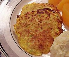 Crab Cakes - Crispy on the edges and tender in the center, these crab cakes whip up quickly and make a delicious easy supper with deli potato salad and peaches.