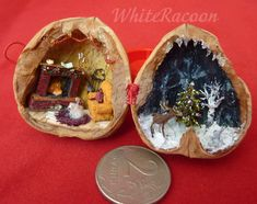 Walnut Shell Art