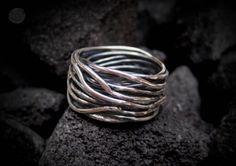Carpe Diem 925 Sterling Silver Wedding Engagement Band Rings