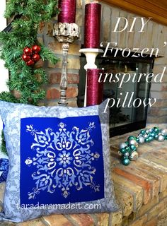 DIY 'Frozen' Inspired pillowcase. A stencil, paint, and fabric.