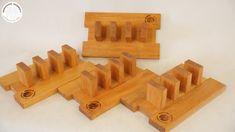 Były już deski do krojenia i muszą  też się pojawić statywy do nich. Całość wykonana jest z drewna egzotycznego dossie.