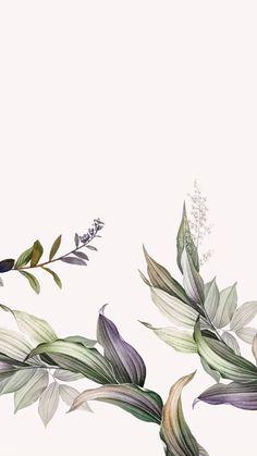 Tropical botanical leaves background vector premium image by Kappy Kappy Botanical Art, Botanical Illustration, Floral Illustrations, Botanical Gardens, Flower Backgrounds, Wallpaper Backgrounds, Flower Frame, Flower Art, Vegetal Concept