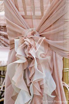 gorgeous blush chair covers