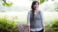 Quill, knitted vest pattern from Twist Collective, $6