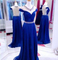 Fashion blue Tube Top drag elegant wedding dress