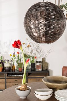 Cooper Round Pendant Lamp in Sparkling Copper Finish - the ultimate centerpiece glitter ball! Now available at cuckooland.com