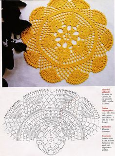 Home Decor Crochet Patterns Part 33 - Beautiful Crochet Patterns and Knitting Patterns Filet Crochet, Crochet Doily Diagram, Crochet Doily Patterns, Crochet Mandala, Crochet Round, Crochet Chart, Crochet Home, Thread Crochet, Crochet Motif