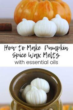 How to make DIY pumpkin spice essential oil wax melts. How to make DIY pumpkin spice essential oil wax melts. Diy Candles Scented, Oil Candles, Homemade Candles, Aromatherapy Candles, Homemade Gifts, Pumpkin Candles, Diy Pumpkin, Pumpkin Spice, Diy Wax Melts