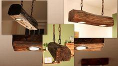 Hängelampen - Deckenlampe aus altem Holzbalken inkl. LEDs - ein Designerstück von aus-Holz-mit-Liebe bei DaWanda