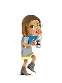 Sleepy girl with coffee mug (c) ZEF® http://www.zef.fi/fi/livezhat/