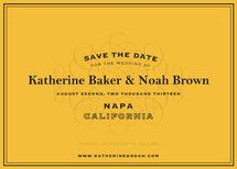 wine label save the date