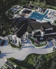 Mansion Interior, Dream House Interior, Luxury Homes Dream Houses, Dream Home Design, Modern House Design, Big Mansions, Mansion Designs, Dream Mansion, Fancy Houses