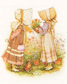 Adorable Holly Hobbie Friends Forever 5x7 by JRaesShabbyCottage