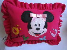 öykü bebek, minnie mouse, pillow