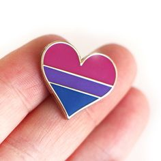 #Bisexual pride lapel pin by CompocoPop