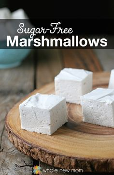Fun to make, these marshmallows are sugar-free, paleo, and autoimmune protocol/AIP compliant. No dyes or artificial flavors. I healthy alternative marshmallows I homemade sugar-free marshmallows II Sugar Free Treats, Sugar Free Desserts, Sugar Free Recipes, Low Carb Desserts, Low Carb Recipes, Dessert Recipes, Diabetic Cookie Recipes, Sugar Free Candy, Healthy Recipes