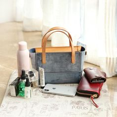 Handmade Womens Leather Handbag Tote Purse Tote Cute Shopper Side Tote Bag for Men