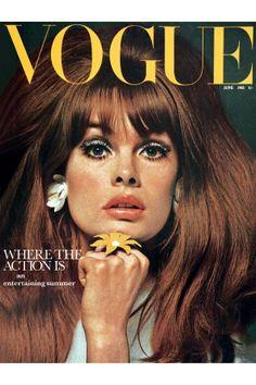 60s Fashion & Beauty on Vogue Covers - Twiggy, Britt Ekland (Vogue.com UK)