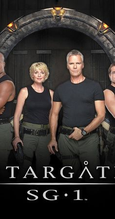 Created by Jonathan Glassner, Brad Wright.  With Richard Dean Anderson, Michael Shanks, Amanda Tapping, Christopher Judge. A secret military team, SG-1, is formed to explore the recently discovered Stargates.