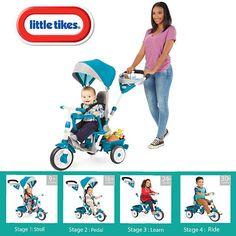 The Perfect Fit 4-in-1 Trike is ready to grow with your child With all of the features of your favorite stroller, this trike is not only a perfect fit for your child - it's a perfect fit for parents too! This advanced trike makes on-the-go travel easy with multiple storage spots! From parents pushing, to toddlers learning to pedal, to them starting to steer, and then going on their own, this trike keeps pace with your active, growing child.<br><br>The Little Tikes® Per...