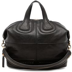 GIVENCHY Nightingale Embossed Detail Medium in Black ($2,250) ❤ liked on Polyvore featuring bags, handbags, bolsas, borse, black, givenchy purse, handle bag, lambskin leather handbags, shoulder strap bags and shoulder strap purses