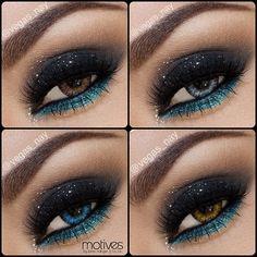 Smokey eye with turquoise pop!!