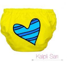 Charlie Banana Swim Diaper - Blue Petit Coeur on Yellow 94d1855a0