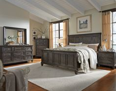 Merveilleux Charcoal Gray 4 Piece Queen Bedroom Set   Calistoga