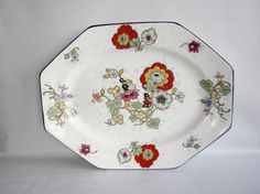 "Vintage, Crown Ducal Ware 13"" Octagon Platter, Beaumont Pattern on Etsy, $34.53 AUD"