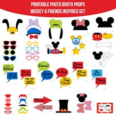 Instant Download Mickey Mouse and Friends by AmandaKPrintables