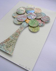 Map tree   by Bombus Design  maybe use hometowns of people in immediate family