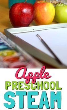 Observational Apple Painting | Art Activities for Preschoolers