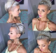 Hair Beauty - All sizes Undercut Hairstyles, Pixie Hairstyles, Pixie Haircut, Short Hairstyles For Women, Pretty Hairstyles, Pixie Updo, Pixie Headband, Curly Hair Styles, Natural Hair Styles