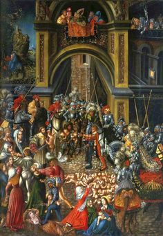 LUCAS CRANACH (1472 - 1553) | The Massacre of the Innocents - 1515. National Museum, Warsaw.