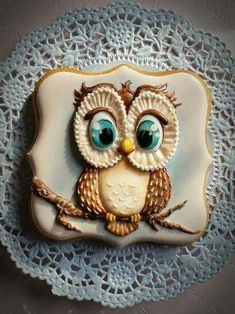 How To Bake The Best Homemade Biscuits Bird Cookies, Paint Cookies, Fall Cookies, Cute Cookies, Cupcake Cookies, Sugar Cookies, Owl Cakes, Ladybug Cakes, Galletas Cookies