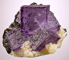 Fluorite with Sphalerite on Barite from Tennessee    by Exceptional Minerals