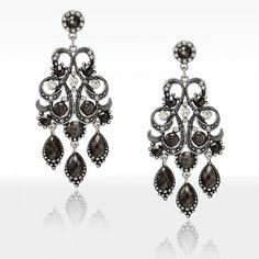 Antique Chandelier Earrings Rhinestone Bead Chandelier Drop Earrings ($5.95) via Polyvore