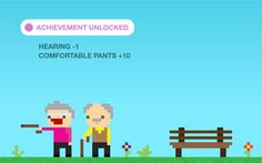 The game of life. Achievement unlocked: you're old. Curated by your friends at  https://createamixer.com/